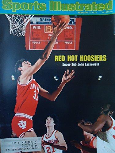 Sports Illustrated Magazine - John Laskowski - Red Hot Hoosiers [February 3, 1975]