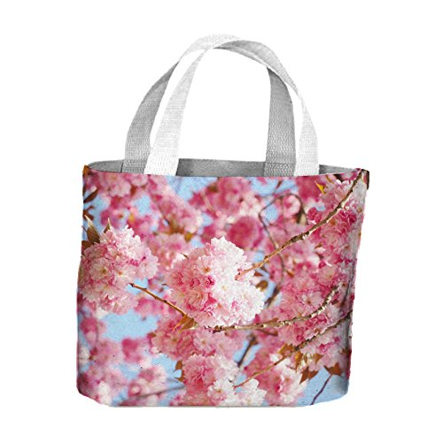 For Tote Life Blossom Pink Pink Cherry Bag Cherry Shopping apnwxqf
