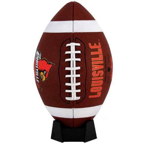 NCAA Game Time Full Size Football, Louisville Cardinals, Brown, Full Size
