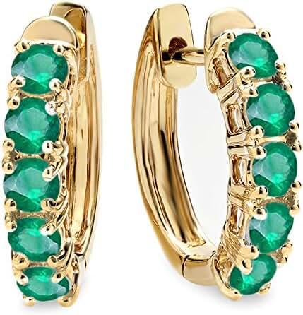 1.00 Carat (ctw) 10K Yellow Gold Ladies Huggies Hoop Earrings 1 CT
