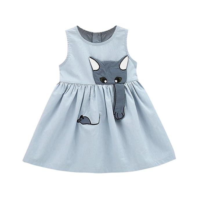 QinMM Vestido de Ratón de Gato de Niña Bebé, Vestido de Princesa de ...
