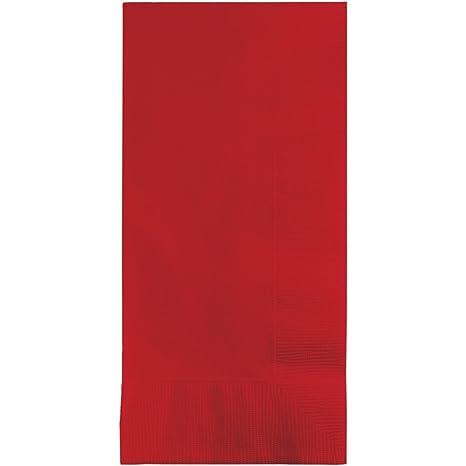 Amazon.com: 50 Gorgeous Classic Color Rojo Cena Servilletas ...