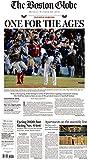 10/29/18 BOSTON RED SOX WIN WORLD SERIES- BOSTON GLOBE NEWSPAPER