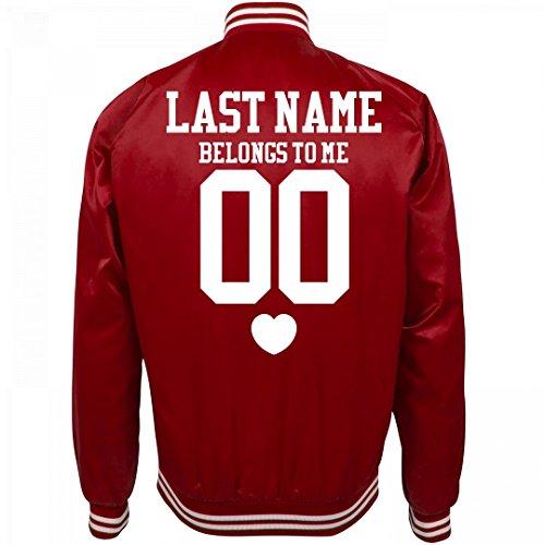Custom Sports Girl Belongs to: Unisex Nylon Bomber Baseball Jacket for $<!--$63.97-->