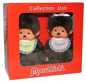 Monchhichi 251360 - Edición especial de 35 años, muñeco de chica y chico [importado de Alemania]