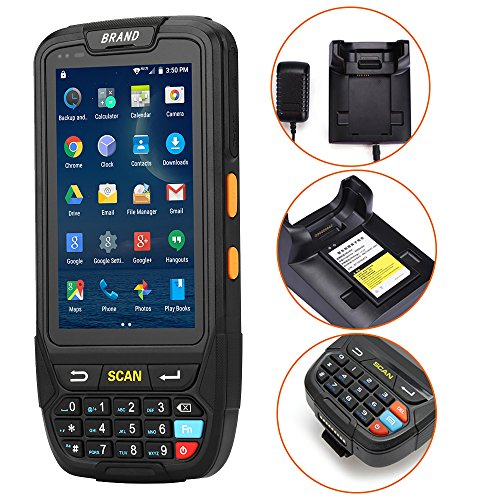 MUNBYN 3G 4G Handheld Android 7.0 POS Terminal with 1D Honeywell Barcode Scanner with Charger Cradle and Touch Screen WiFi BT GPS for Delivery Warehouse Management Shipping by MUNBYN (Image #1)