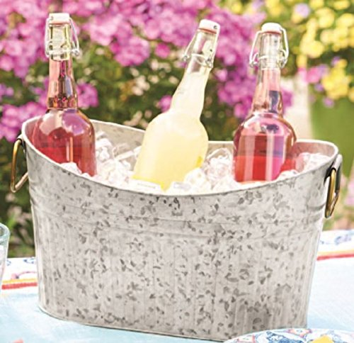 Better Homes & Gardens Scooped Tub, Galvanized, Ice Bucket