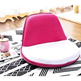 Harper&Bright designs Fabric Folding Sofa Chair Portable Kids Chair (White/Pink)