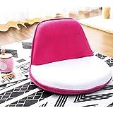Harper&Bright designs WF037241 Fabric Folding Sofa Portable Kids Chair, 19.7'' L X 20'' W X 14.2'' H, White/Pink