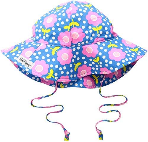 Flap Happy Baby Girls UPF 50+ Floppy Hat, Floral Pop, Medium