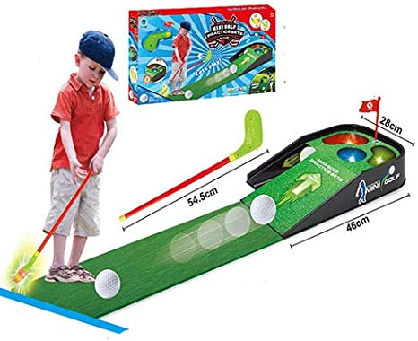 YTBLF Juguetes Deportivos para Padres E Hijos Casuales Juegos De Mesa para Prácticas De Golf para Niños Sonido Y Música Ligera Golf para Interiores Y Exteriores: Amazon.es: Deportes y aire libre