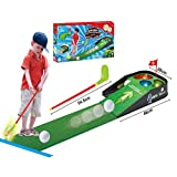 Children's Golf Practice Table Set with Sound and Light Music Indoor and Outdoor Golf Leisure Parent-Child Sports Toys