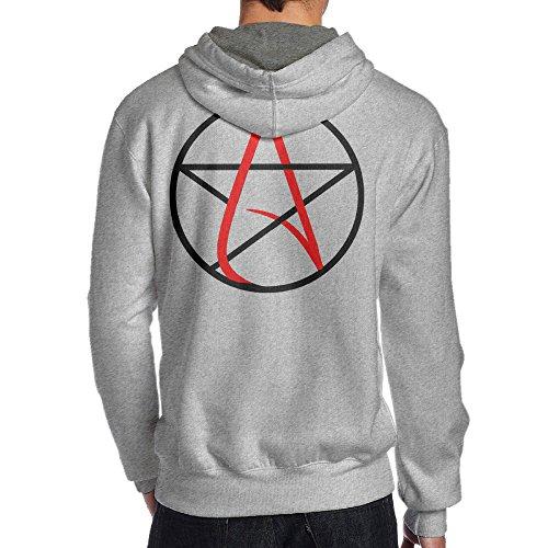 TYEJML Atheist Symbol Men's Pullover Hoodie Sweatshirts XXL (Hartford Outdoor Pendant)