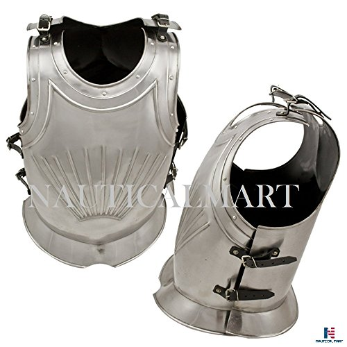 European Gothic Breastplate and Back Plate By Nauticalmart by NAUTICALMART