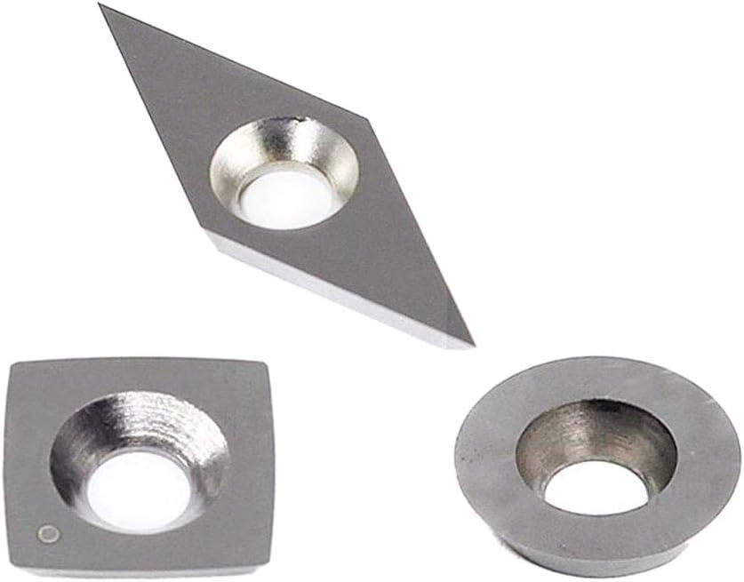 Suministran Con Tornillos Lopbinte 3pcs Insertos Carburo De Tungsteno Fijado para Torno Madera Herramientas Como Plaza De 11mm Con Radio, Ronda 12mm, 28X10Mm Diamante Con Agudo Punto