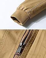 e6b049afecfee LaoZanA Hombre Chaqueta Militar Multi-Bolsillo Otoño Casual Abrigo Bomber  Cazadora Slim Fit Caqui 2XL. Cargando imágenes.