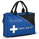 ReliefCare Essential Survival Medical First Aid Kit Bag – 200 Pcs – Supplies – Compact & Lightweight – Ideal as Home, Sports, Adventure, Hiking, Office - FDA and CE Approved