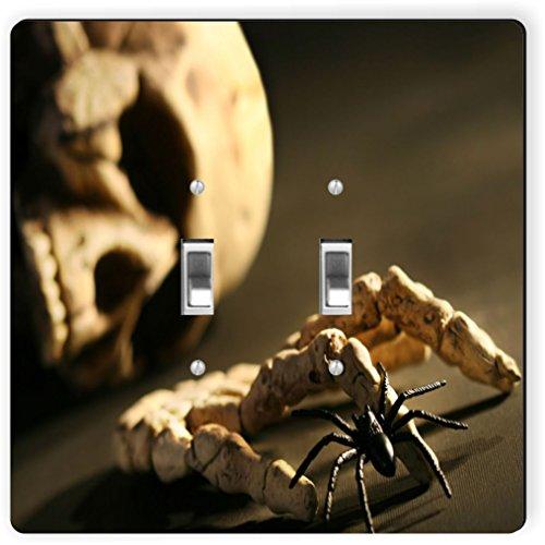 Rikki Knight 1056 Double Toggle Skull & Hand Bone Design ...