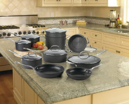 Cuisinart 66-17 Chef's Classic Nonstick Hard-Anodized 17-Piece Cookware Set DISCONTINUED BY MANUFACTURER - smallkitchenideas.us