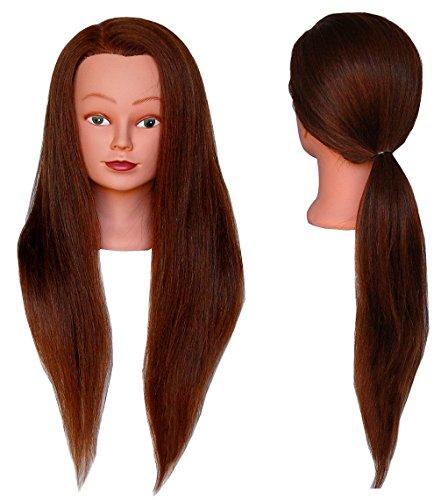 (SUPER LONG) HairZtar 100% Human Hair 26 - 28 Mannequin Head Hairdresser Training Head Manikin Cosmetology Doll Head (LUCY)