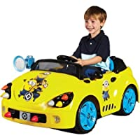 Minions 6-V Rocket Car Electric Battery-Powered Ride-On