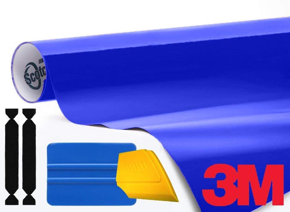 1//2ft x 5ft 3M 1080 Gloss Cosmic Blue Air-Release Vinyl Wrap Roll