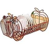 Collections Etc - Apple Decor Expandable Dish Rack