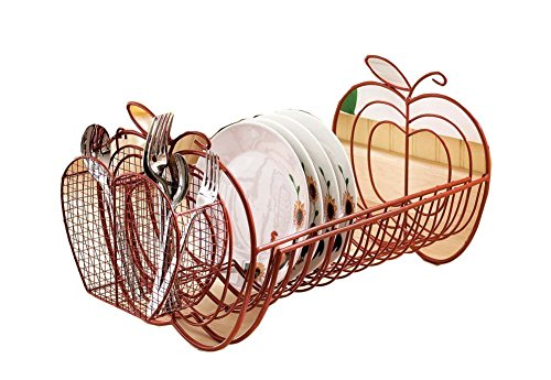 Apple Decor Expandable Dish Rack