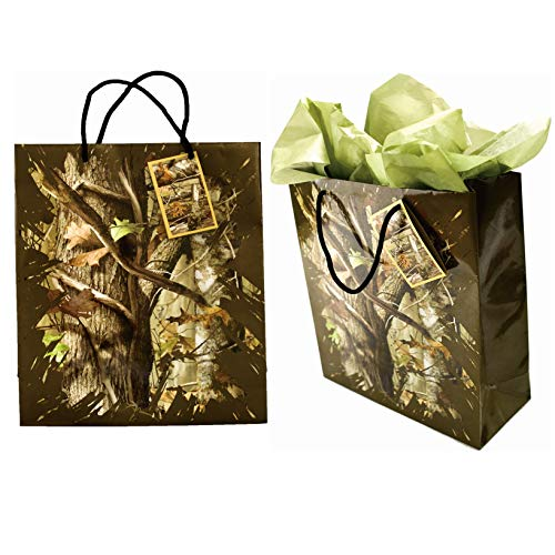 Hunting Camo Gift Bag Next Camo Party Collection (Medium, 10