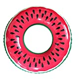 Gymforward Adult Giant Watermelon Swim Ring Inflatable Pool Loungers 32inch