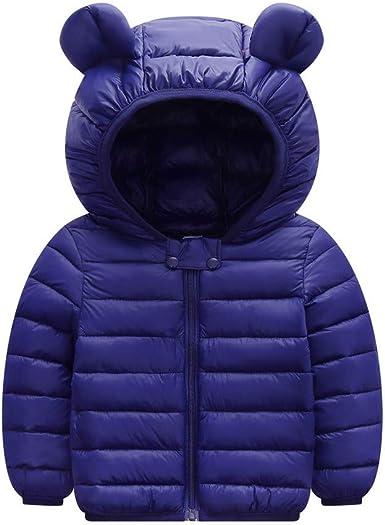 Toddler Kids Hooded Jacket Coat Windproof Winter Puffer Snow Wear Thick Warm Full Zip Outwear