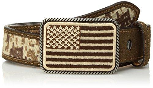 (Ariat Boy's Digital Camo Strap Belt, Medium Brown, 26)