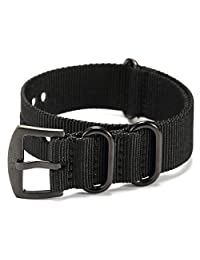 Shark Army Black Nylon Sport Military Ourdoor Watchband Watch Strap Band WTL067