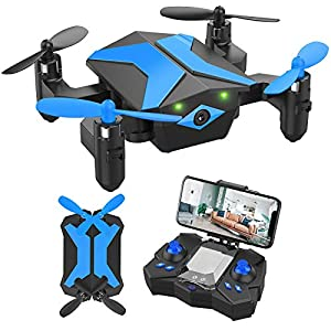 Flashandfocus.com 51uxXhwQ25L._SS300_ Drone with Camera Drones for Kids Beginners, RC Quadcopter with App FPV Video, Voice Control, Altitude Hold, Headless…