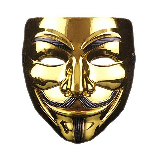Masquerade Hacker Mask Cosplay V Word Mask - Thickened -