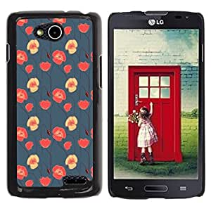 Be Good Phone Accessory // Dura Cáscara cubierta Protectora Caso Carcasa Funda de Protección para LG OPTIMUS L90 / D415 // floral blue red pink wallpaper native
