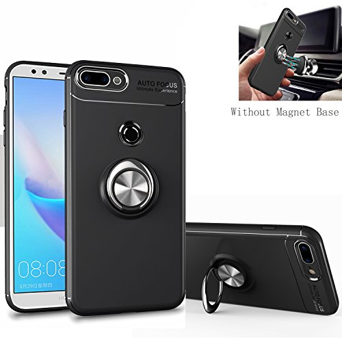 info for b6dbe 72ce4 Honor 7C / Y7 Prime 2018 Case, [360 ° Kickstand] Rotating Ring [Soft  Silicone] Protection Cover [Fit Magnetic Car Mount] for Huawei Y7 Prime  2018 ...