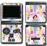 Princess Baby Friends Ariel Snow White Cinderella Belle Jasmine Video Game Vinyl Decal Skin Sticker Cover for Nintendo GBA SP Gameboy Advance System