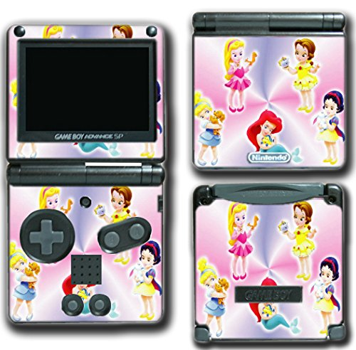 Princess Baby Friends Ariel Snow White Cinderella Belle Jasmine Video Game Vinyl Decal Skin Sticker Cover for Nintendo GBA SP Gameboy Advance System (Snow White Game Boy Color)