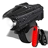 LT_SPORTS Touch Control USB Rechargeable Bike LED Light Set, Front Bicycle Headlight with Bright Taillight, Waterproof Cycling Lights for Mountain/Road Bikes For Sale