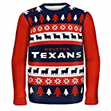 Forever Collectibles HOUSTON TEXANS ONE TOO MANY UGLY SWEATER