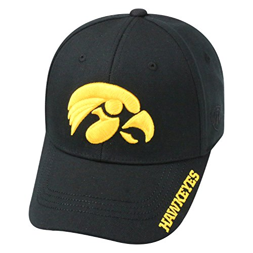 - Top of the World NCAA-Premium Collection-One-Fit-Memory Fit-Hat Cap-Iowa Hawkeyes