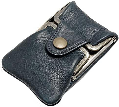 Masago Men's Made in Japan Minerva Box Leather coin purse M-601 Navy