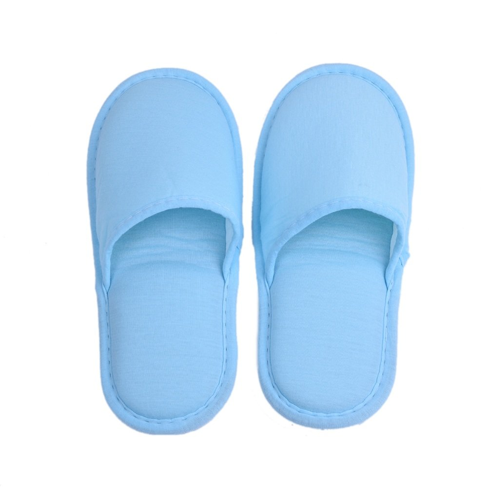 VGEBY 1 Pair Travel Foldable Slippers Anti-slip with Drawstring Storage Bag for Home Hotel Flight Indoor Outdoor