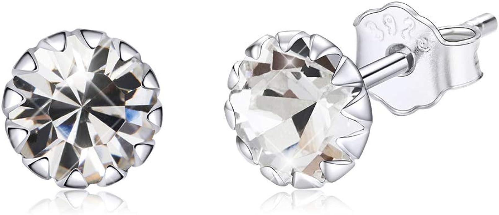 Sterling Silver Earrings April birthstone Earrings for women Earrings Silver Earrings