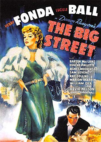 Lucille Ball Henry Fonda trading card The Big Street Classic Movie Posters - Lucille Autographs Ball