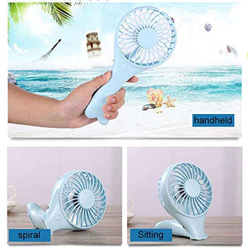 SaveStore 1200MA Hand Held Air Conditioning Foldable Air Ventilation Fans for Outdoor Home Portable Air Cooler Rechargeable Mini USB Fan by SaveStore (Image #4)