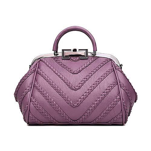 Bolsa Tamaño Mensajero De Mujeres Elegante Púrpura Las Vino Hombro Eeayyygch color Tejida Del Moda Rojo La Ocasional Tamaño Un 5TqAWw4t