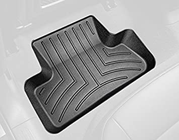 WeatherTech Custom Fit Rear FloorLiner for Audi Q5, Black 442302