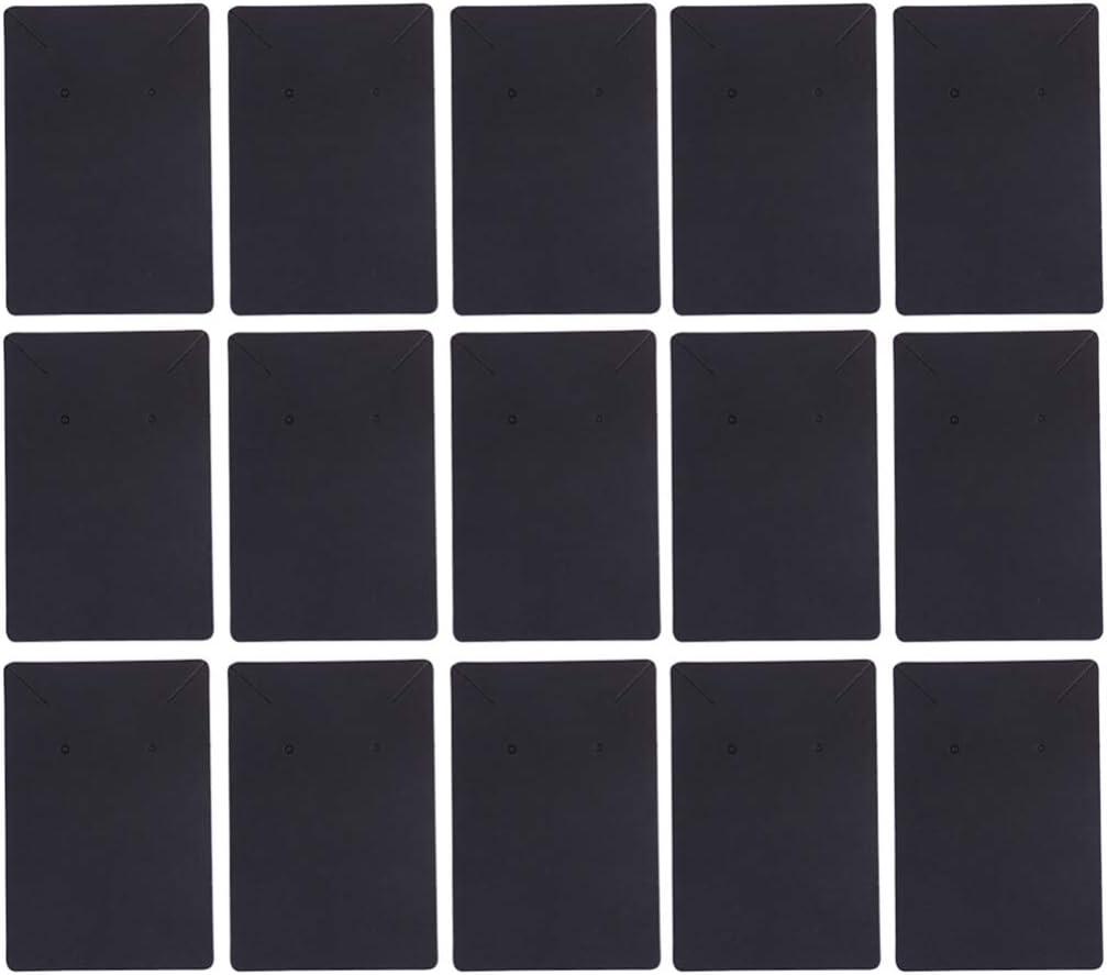 Blanco TOPBATHY 100 Piezas Tarjetas de Aretes Collares Tarjetas de Papel Dos Agujeros Tarjetas de Exhibici/ón de Joyer/ía DIY Tachuelas Etiquetas de Papel